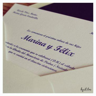 Invitaciones de boda - Sobre forrado