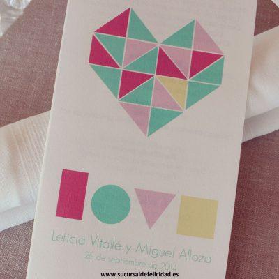 Minuta - Boda LOVE