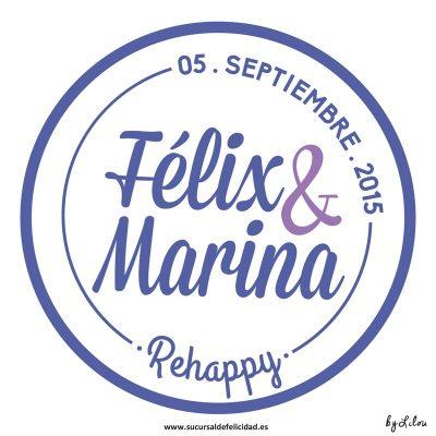 Boda Rehappy Marina & Félix - Logotipo