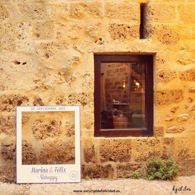Boda Rehappy Marina & Félix - Photocall polaroid