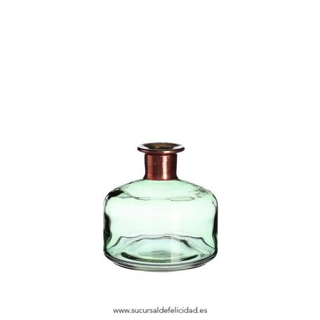 Botella verde med