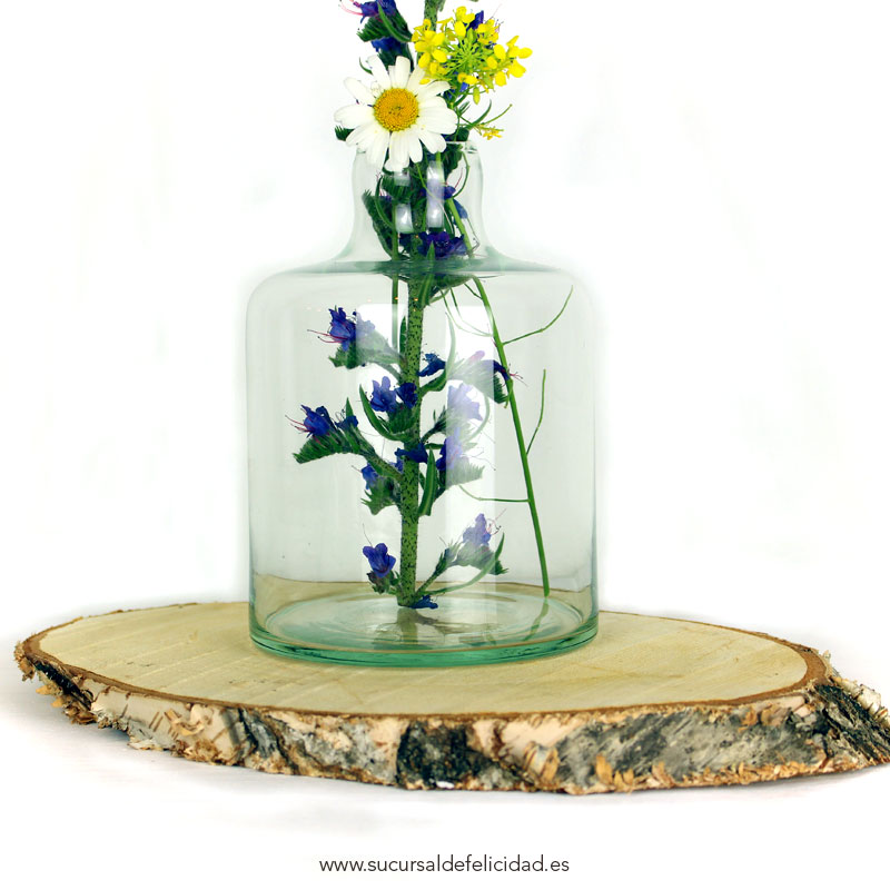 Jarr n transparent lilou sucursal de felicidad for Jarron cristal decoracion