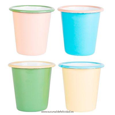 vasos colores peltre
