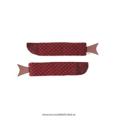 Calcetines Fish Burdeos