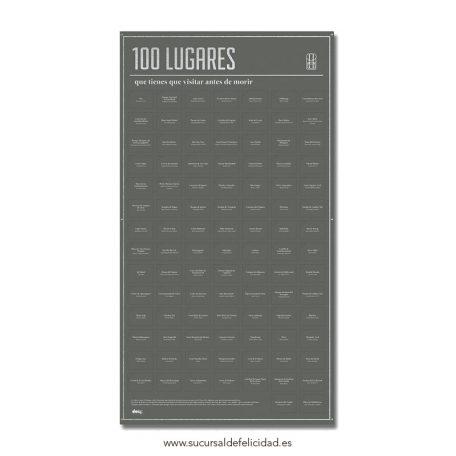 Poster 100 lugares que tienes que visitar