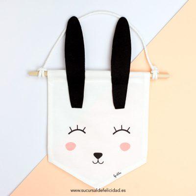 banderin de tela conejo