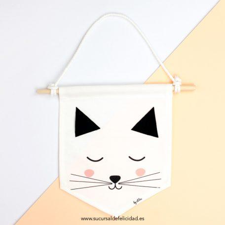banderin de tela gato
