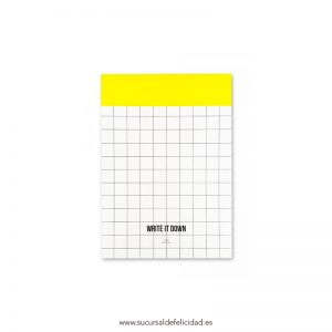 Notebook Grid Amarillo