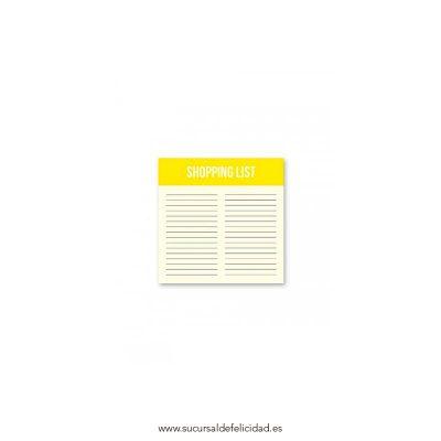 Lista de la compra bloc notas