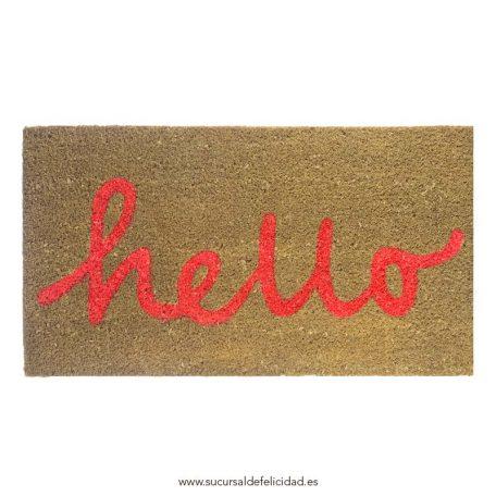 Felpudo Hello