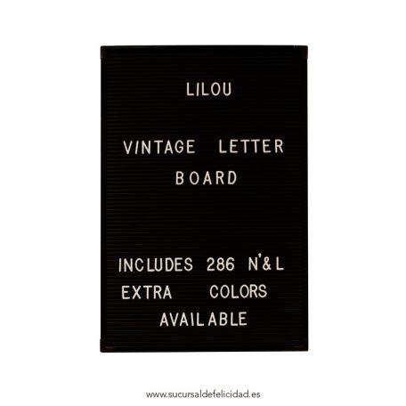 Letter Board Negro