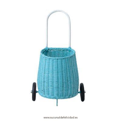Carrito Luggy azul