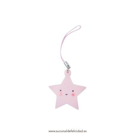 Colgante estrella rosa