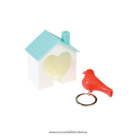 Llavero bird y casita