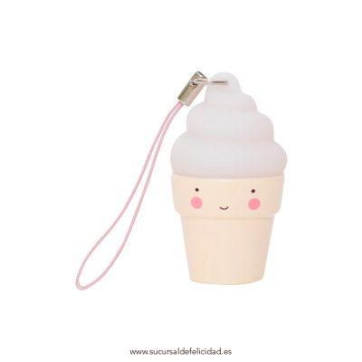 Colgante helado cucurucho nata