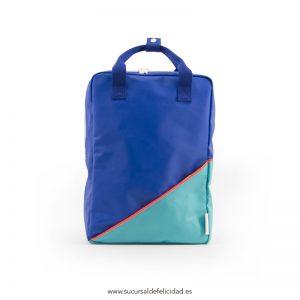 Mochila Diagonal Azul Verde