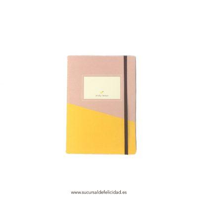 Libreta Rosa y Amarillo