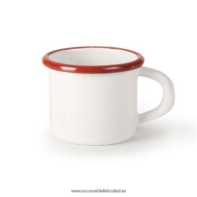 Taza Roja Esmaltada Burdeos