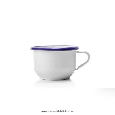 Taza Desayuno Esmaltada Azul