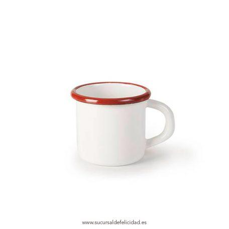 Taza roja acero esmaltado