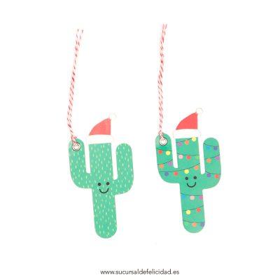 Adorno Navidad Cactus