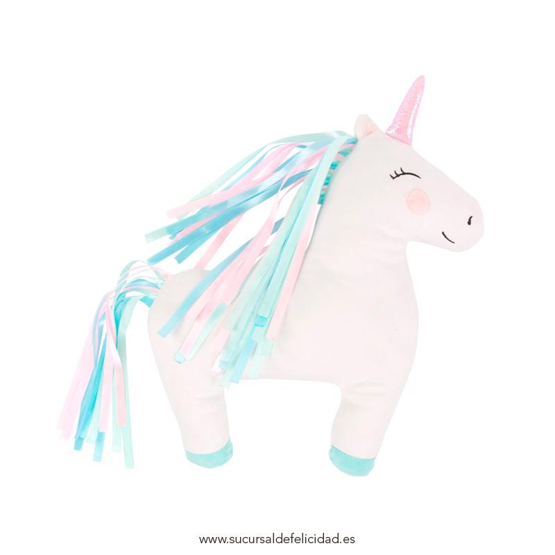 Cojín Unicornio Terciopelo – Lilou. Sucursal de felicidad