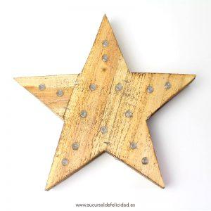 Estrella Madera LED
