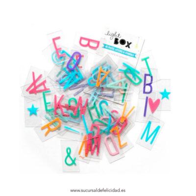 Pack de Letras Pastel Lightbox