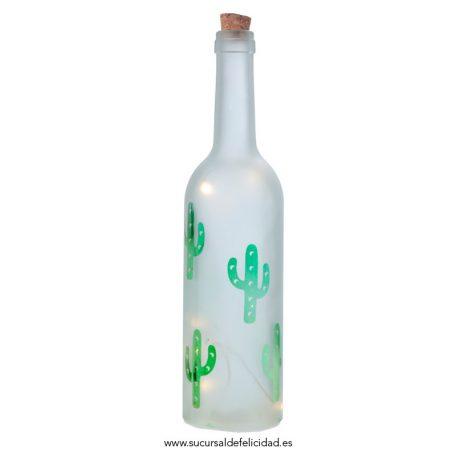 Botella Luminosa Cactus LED