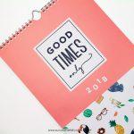Calendario de Pared 2018 - Good Times Only