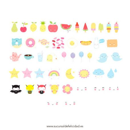 Pack de Símbolos Kawaii
