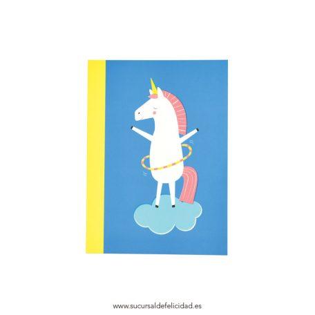 Libreta Unicornio Hula Hoop