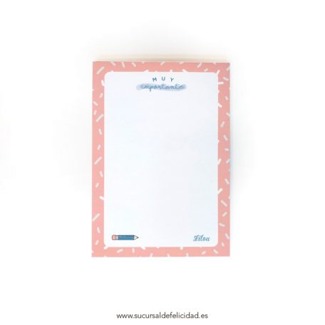 Bloc notas Pink Topping
