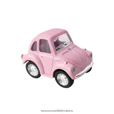 Mini Coche Juguete Little Beetle Classical Rosa
