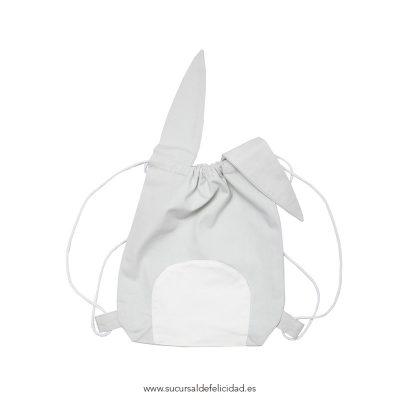 Mochila Cuerdas Conejo Pirata Gris Claro