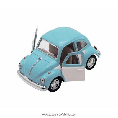 Coche VW Beetle Azul y Blanco