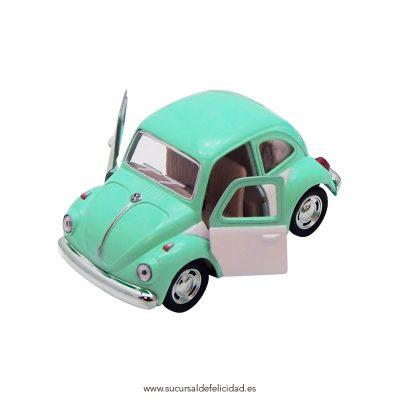 Coche VW Beetle Menta y Blanco
