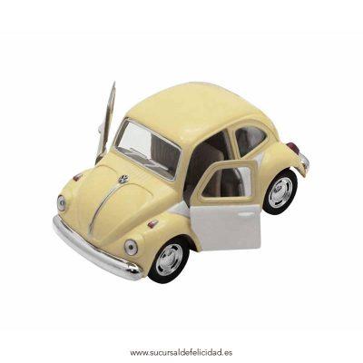 Coche VW Beetle Vainilla y Blanco