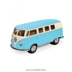 Furgoneta Juguete Volskwagen Hippie Azul