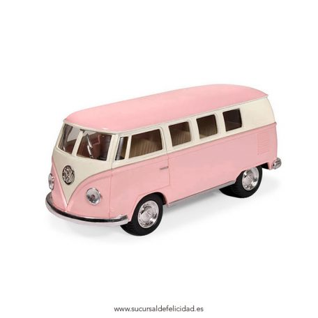 Furgoneta Juguete Volskwagen Hippie Rosa