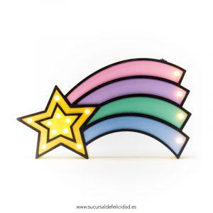Estrella Colores Madera Led