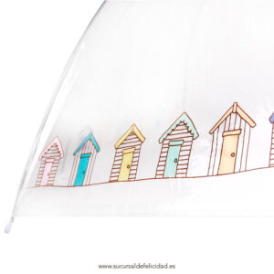 Paraguas Transparente Casitas