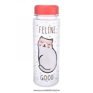 Botella Agua Gato Feline Good