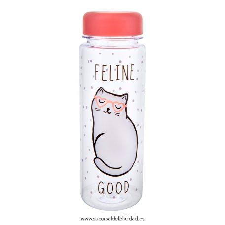 Botella Agua Gato Feline Good