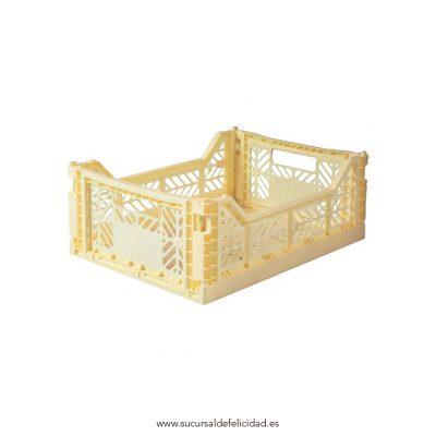 Caja Lillemor Mediana Amarillo Clarito