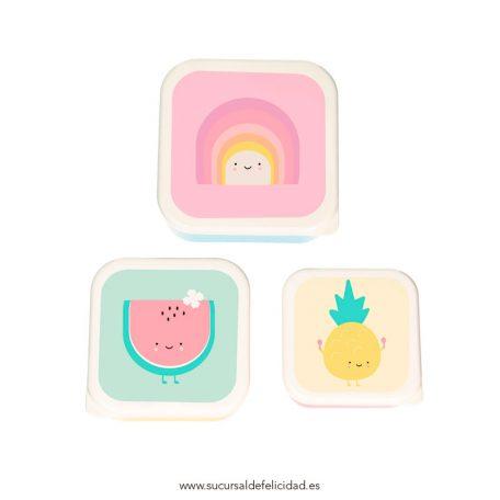Set Cajas Almuerzo Arcoíris