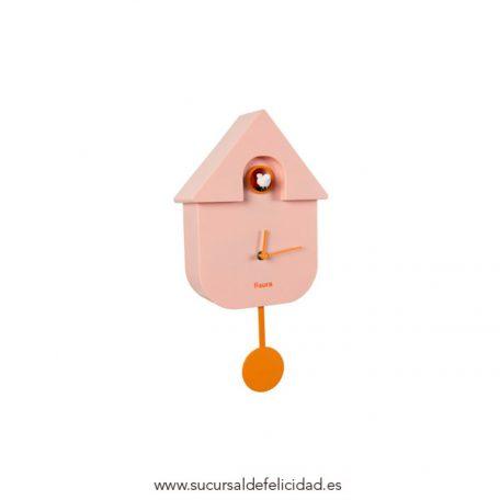 bonito reloj de cuco moderno rosa naranja