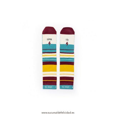 Calcetines Súper Tía Rayas