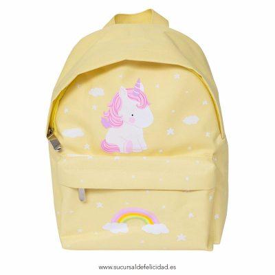 Mochila Amarilla Unicornio