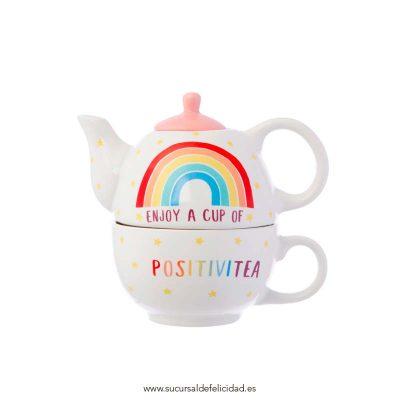 Tetera Taza Arcoíris Positivitea